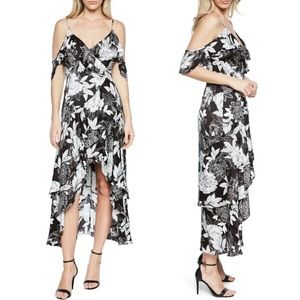 Bardot Frankie Frill Floral High Low Dress